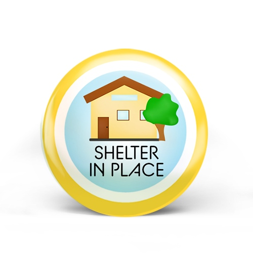 Shelter In Place Badge