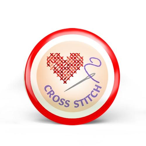 Cross Stitch Badge