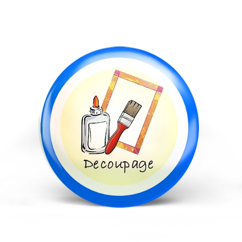 Decoupage Badge