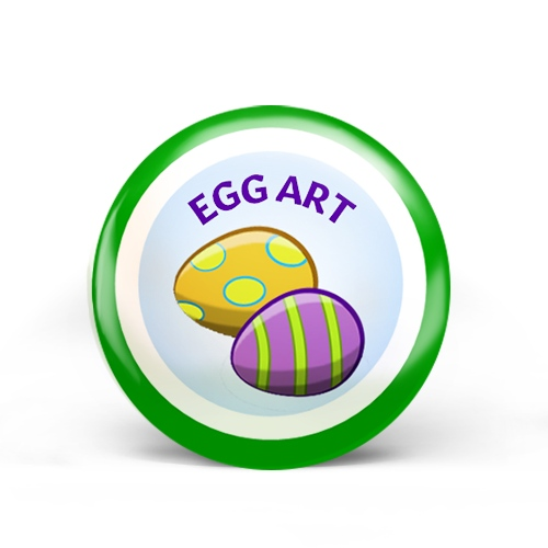 Egg Art Badge
