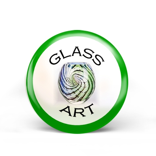 Glass Art Badge