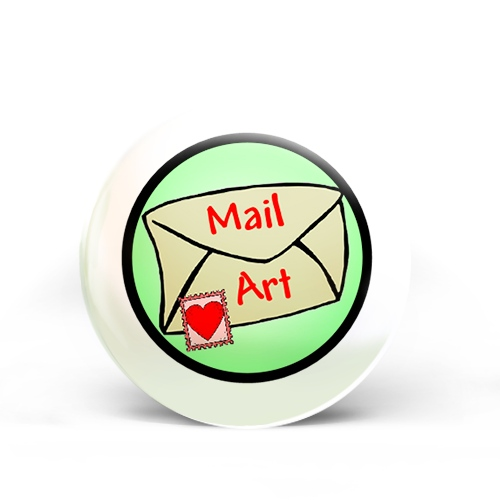Mail Art Badge