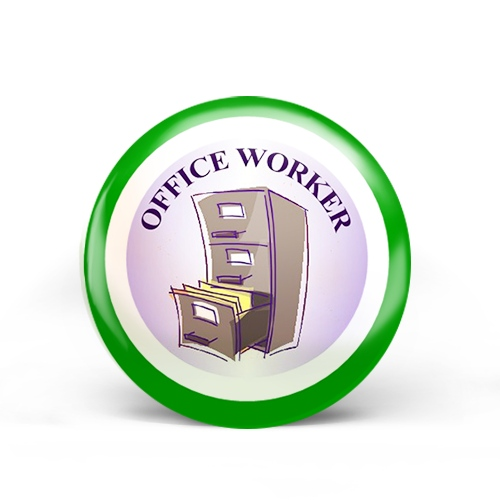 Office Worker Badge