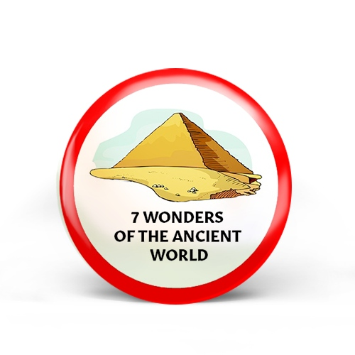 Seven (7) Wonders of the Ancient World Badge
