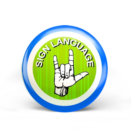 Sign Language Badge