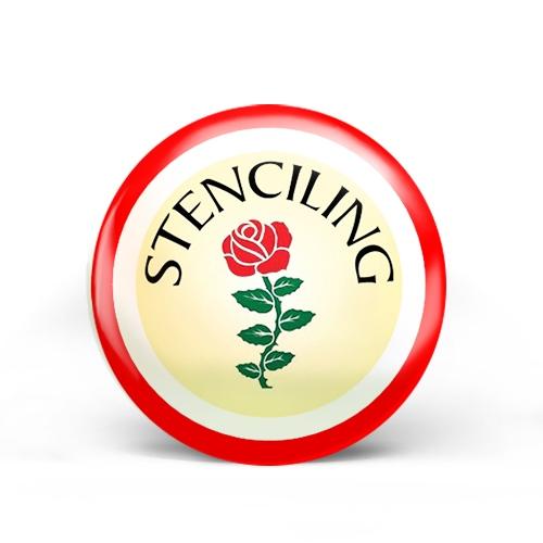 Stenciling Badge