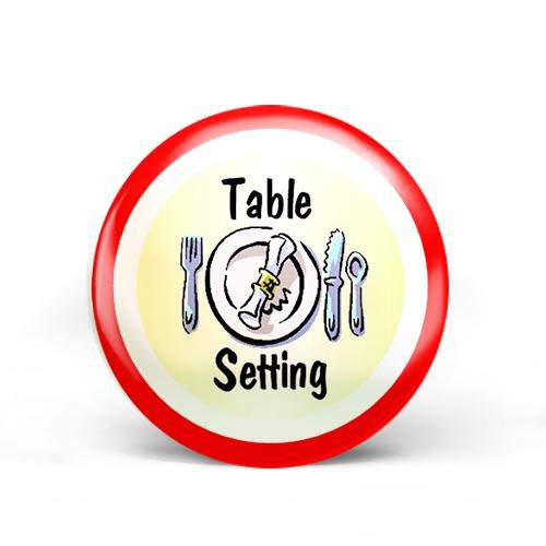 Table Setting Badge