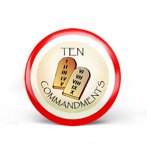 Ten Commandments Badge
